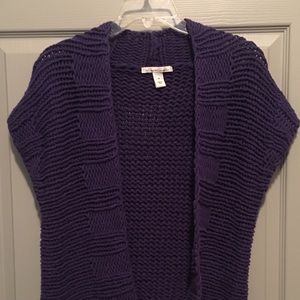 Kenneth Cole purple cable knit sweater.